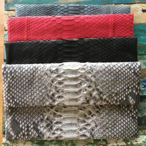 Genuine snake leather clutch