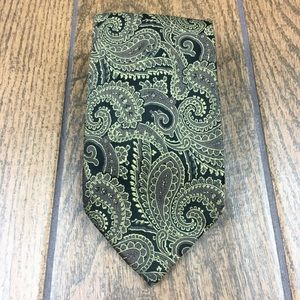 Other - Setazone Gold Black Paisley Tie