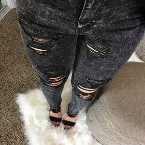 Denim - Rebel Distressed Acid Jeans