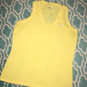 Under Armour Yellow Cotton Tank Large