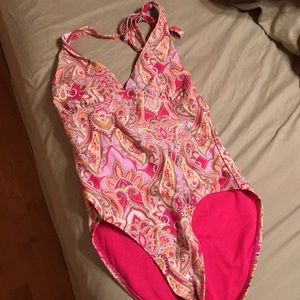 One piece swimsuit.