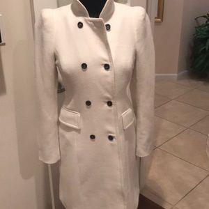 Zara winter white double breasted ladies coat