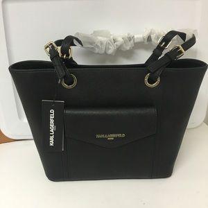 Karl Lagerfeld Leather Tote Handbag Purse