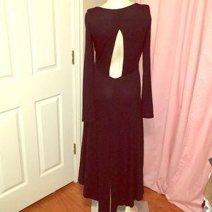 Open back high low maxi bcbg dress