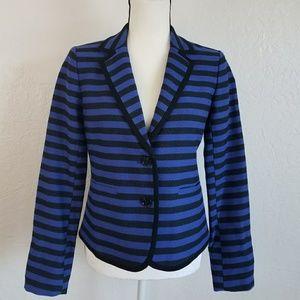 Ann Taylor LOFT Blue Striped Blazer