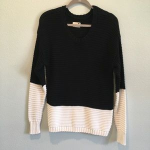 La Hearts Color Block Sweater