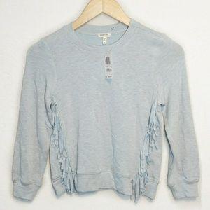 NWT Monteau Long Sleeve Fringe Sweater Sweatshirt