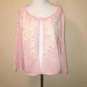 Pink Talbots sweater