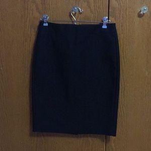 Black J Crew Pencil Skirt Sz 0