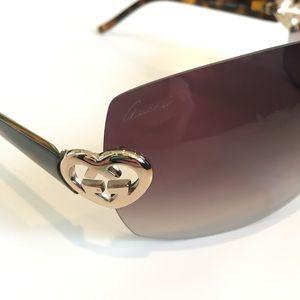 Gucci Gold & Havana Brown Gradient Sunglasses