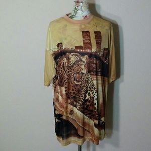Vintage Sepia Tone Cheetah T-Shirt