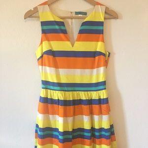 Pim & Larkin bright striped a-line dress