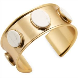 Kate Spade 12K gold plated cuff bracelet