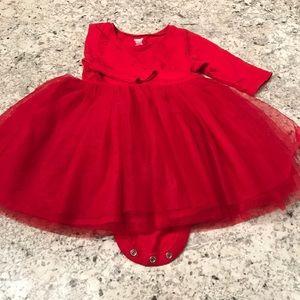 Little Girls Red Tutu Dress