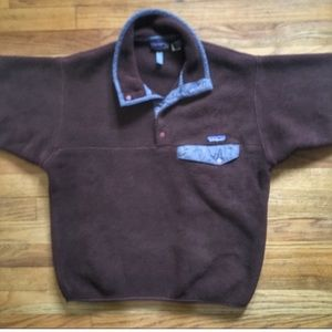 Patagonia synchilla snap t fleece pullover.