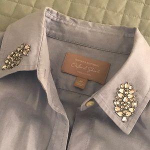 BANANA REPUBLIC chambray button up oxford shirt
