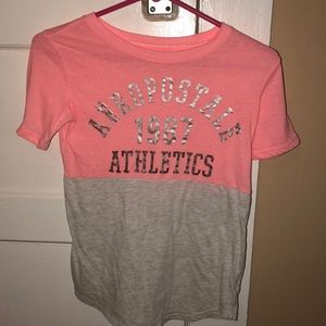Pink and gray tee