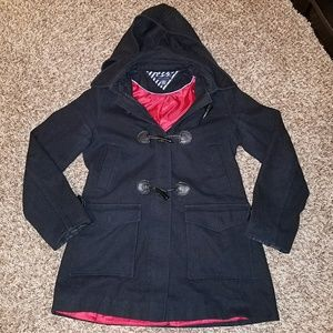 Tommy Hilfiger Toggle Button Wool Peacoat Hood