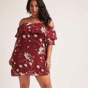 Forever 21 1X off the shoulder dress