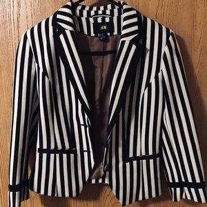 HM Blue/White Striped Blazer