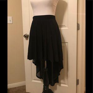 Hi-LO sheer skirt