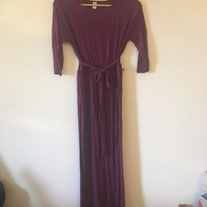 Purple stretch jersey maxi