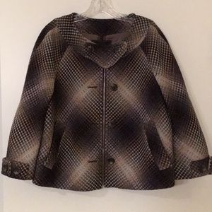 BCBGMAXAZRIA Plaid Wool Blend Jacket