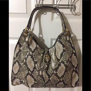 NWOT Talbots Snake Embossed Leather Handbag