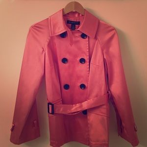 INC • Pink/ Salmon Trench coat S
