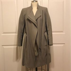 Helmut Lang Grey Zip Up Coat