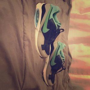 Blue, white, black and grey Nike Air Max St