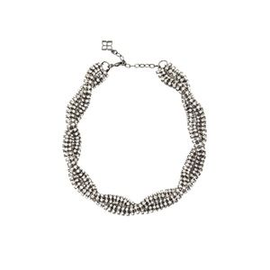 BCBGMAXAZRIA Twisted Rhinestone Necklace