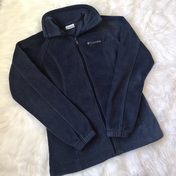 columbia jackets coats navy blue womens fleece jacket small