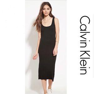 🆕 {CALVIN KLEIN} Black Jersey Sheath Dress