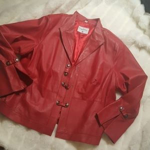 Pamela Mccoy genuine leather jacket