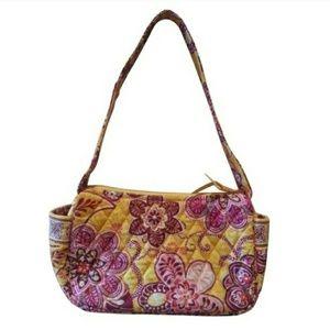 Vera Bradley Small Bali Gold Shoulder Bag