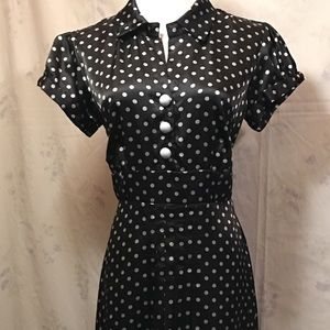 Signature by Robbie Bee - Polka Dot Dress, Size 10