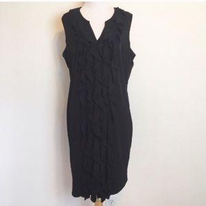Calvin Klein Black Ruffle Sleeveless Dress
