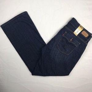 Levi's Curvy Bootcut Size 16 Womens Dark Jeans