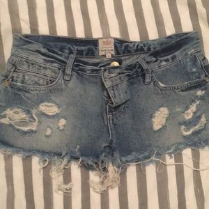 River Island Distressed Shorts