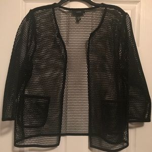 Alfani Black Mesh Jacket