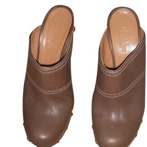 Max Mara Studded Clog Stilettos 👠