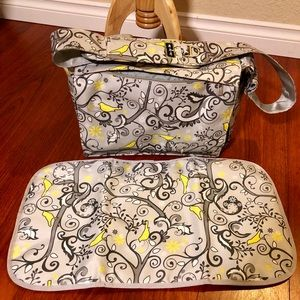 Ju-ju-be  messenger diaper bag