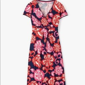 Boden Casual Jersey Dress in Pink Floral Print
