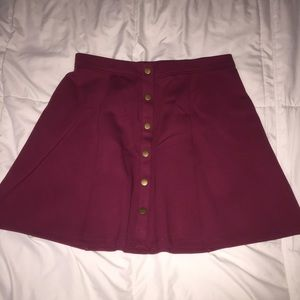 Maroon button up skirt❤️
