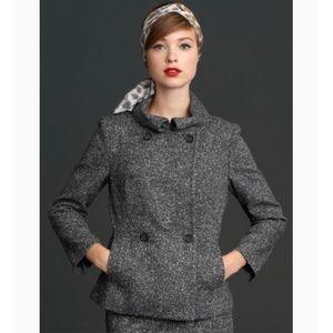 Banana Republic Madmen wool blend tweed pea coat