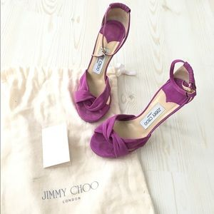 Fuschia suede Jimmy Choo heels