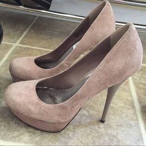 Steve Madden blush heels platform 7.5