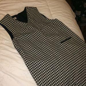 Women's houndstooth wool Talbots dress