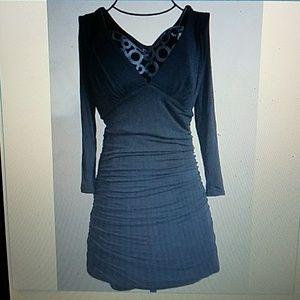Guess Los Angeles Black Empire Bodycon Dress NWT